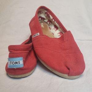 TOMS Classic Red Alpargata Women's Shoes